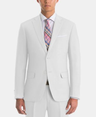 Men's UltraFlex Classic-Fit White Linen Sport Coat