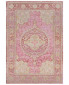 "Antioch AIC-2325 Bright Pink 3'11"" x 5'11"" Area Rug"