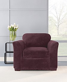 Stretch Plush Two Piece Slipcover