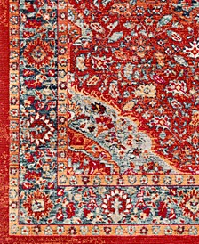 "Bohemian BOM-2307 Bright Red 18"" Square Swatch"
