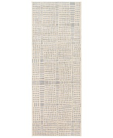 "City CIT-2320 Light Gray 2'7"" x 7'3"" Runner Area Rug"
