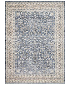 Pandora PAN-04 Dark Blue/Ivory 5' x 8' Area Rug