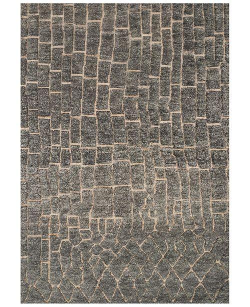 "Loloi Tanzania - Hemingway TN-03 Slate 5'6"" x 8'6"" Area Rug"