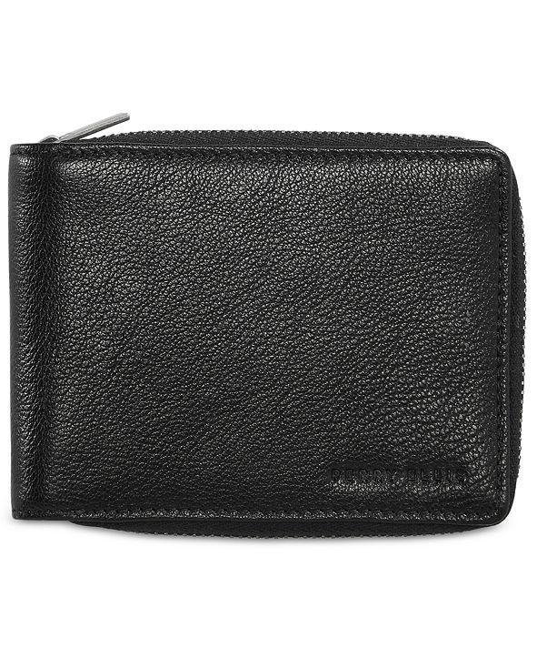 Perry Ellis Men's Leather Zip Wallet