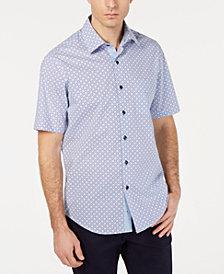 Tasso Elba Men's Stretch Medallion Tile Shirt, Created for Macy's