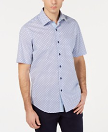 Tasso Elba Men's Medallion Tile Shirt, Created for Macy's