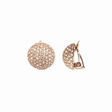 Nina Swarovski Pavé Dome Clip-on Earrings