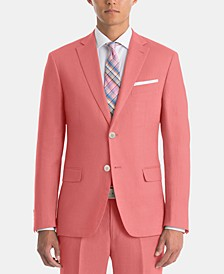 Men's UltraFlex Classic-Fit Red Linen Sport Coat