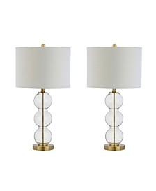 Bella Glass Triple-Sphere Led Table Lamp, Set of 2