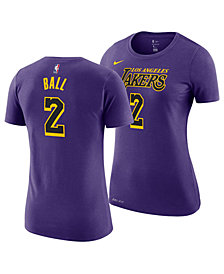 Nike Women's Lonzo Ball Los Angeles Lakers City Edition Player T-Shirt