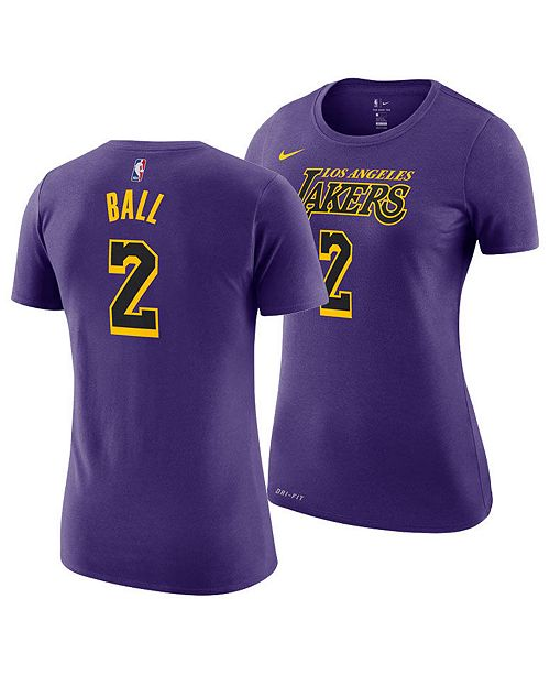 6272bbf8c ... Nike Women s Lonzo Ball Los Angeles Lakers City Edition Player T-Shirt  ...