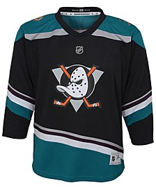 Anaheim Ducks Alternate Blank Replica Jersey, Big Boys (8-20)
