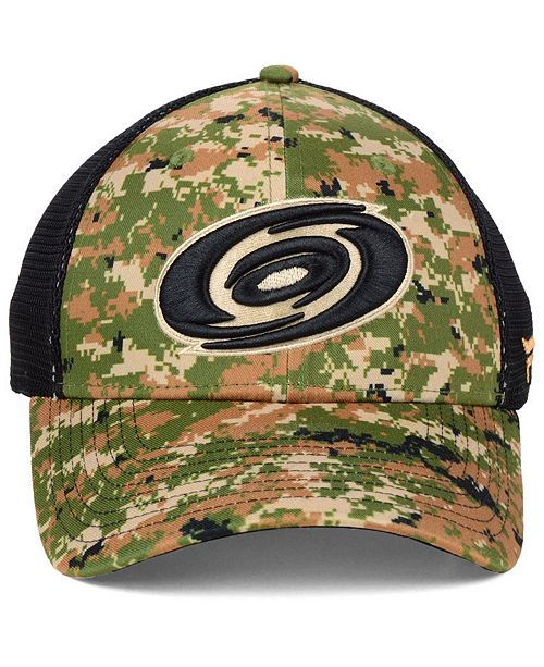 cb564d47b ... Authentic NHL Headwear Carolina Hurricanes Military Appreciation Speed  Flex Stretched Fitted Cap ...