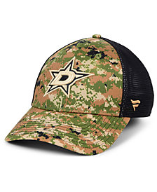 Authentic NHL Headwear Dallas Stars Military Appreciation Speed Flex Stretch Fitted Cap