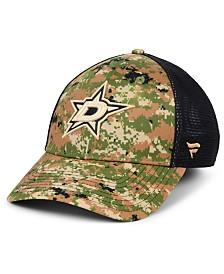 Authentic NHL Headwear Dallas Stars Military Appreciation Speed Flex Stretch Fitted Cap