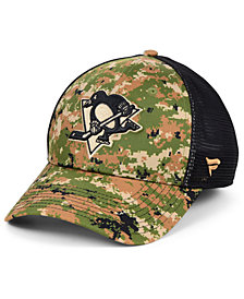 Authentic NHL Headwear Pittsburgh Penguins Military Appreciation Speed Flex Stretch Fitted Cap