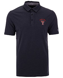 Under Armour Men's Texas Tech Red Raiders Cotton Charged Polo