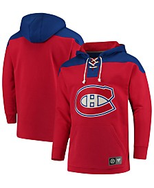 Majestic Men's Montreal Canadiens Breakaway Lace Up Hoodie