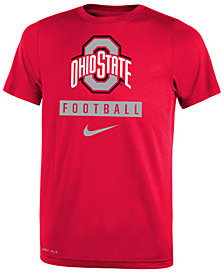 Nike Ohio State Buckeyes Logo Sport Drop T-Shirt, Big Boys (8-20)