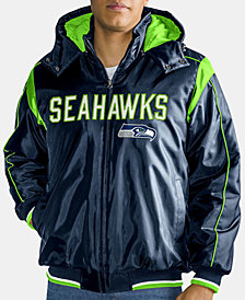 G-III Sports Men's Seattle Seahawks Hot Read Player Front Zip Jacket