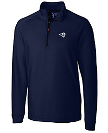Cutter & Buck Men's Los Angeles Rams Jackson Half-Zip Pullover