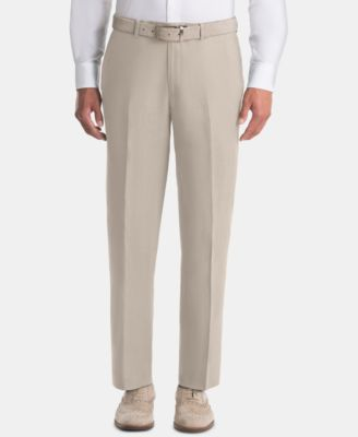 Men's UltraFlex Classic-Fit Tan Linen Pants