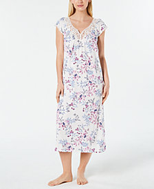 Charter Club Flutter-Sleeve Nightgown, Created for Macy's