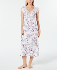 Charter Club Flutter-Sleeve Soft Knit Nightgown, Created for Macy's