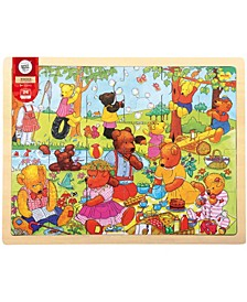 Wooden Teddy's Picnic Tray Puzzle- 24 Piece