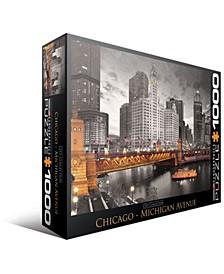 City Collection - Chicago - Michigan Avenue - 1000 Piece Puzzle
