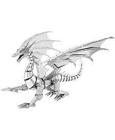 ICONX 3D Metal Model Kit - Silver Dragon