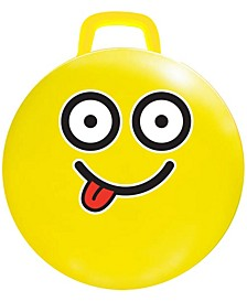 "15"" Yellow Emoji Hop Hop Bouncer - #Silly"