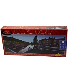 World Panoramas - Summer Canals, England Puzzle - 500 Piece
