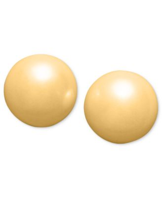 Silver-Tone Imitation Pearl (6mm) Stud Earrings, Created for Macy's