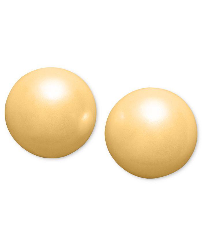 Charter Club - Silver-Tone Imitation Pearl (6mm) Stud Earrings