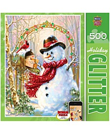 Holiday Glitter Puzzle - Letters to Frosty - 500 Piece