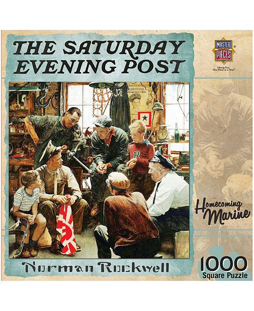 Masterpieces Puzzles The Saturday Evening Post - Homecoming Marine- 1000 Piece Puzzle