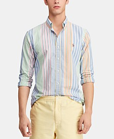 Polo Ralph Lauren Men's Classic Fit Striped Cotton Shirt