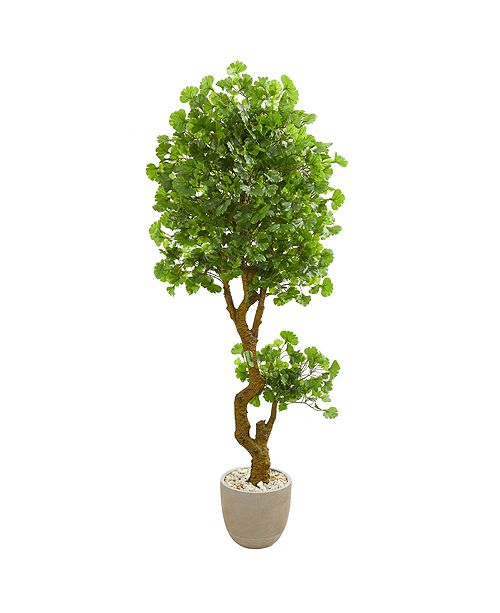 Nearly Natural 6.5' Jingo Artificial Tree in Sand Colored Planter