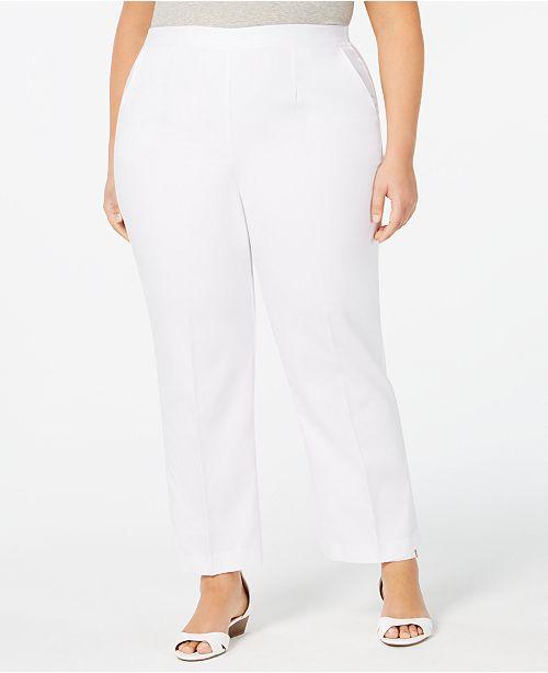 e337514f55a Alfred Dunner Plus Size Palm Coast Pants - Pants - Plus Sizes - Macy s