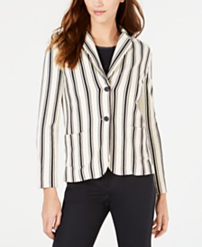 Weekend Max Mara Striped 2-Button Blazer