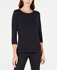 Weekend Max Mara Solid 3/4-Sleeve Top