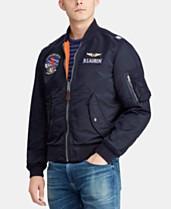 ffe6db07a971f2 Polo Ralph Lauren Men's Reversible Twill Bomber Jacket