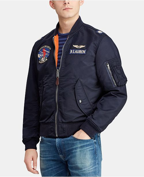 Polo Ralph Lauren Men's Reversible Twill Bomber Jacket