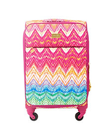 """Macbeth Collection Chevron 29"""" Softside Spinner Suitcase"""
