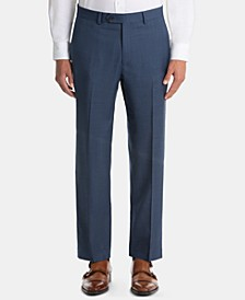 Men's UltraFlex Classic-Fit Blue Wool Pants