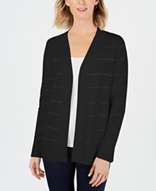 Karen Scott Petite Ottoman Pointelle Cardigan, Created for Macy's