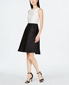 Calvin Klein Colorblocked A-Line Dress