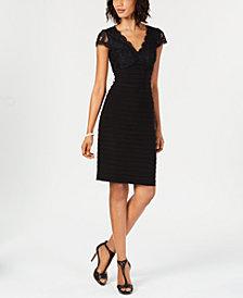 Adrianna Papell Bandage Lace Sheath Dress