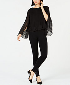 Bar III Pleated Blouse & Skinny Pants, Created for Macy's